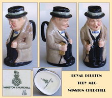 ROYAL DOULTON TOBY MUG WINSTON CHURCHILL