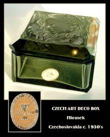 SIGNED CZECH ART DECO MERCURY POWDER BOX OPB-51