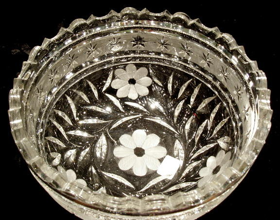 CUT GLASS BOWL AMERICAN c.1920-30's #61