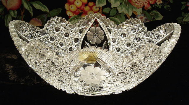 CUT GLASS BOWL AMERICAN BRILLIANT PERIOD #58
