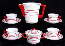 OUTSTANDING ART DECO 11 pc COFFEE SET MEISSEN