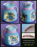 ANTIQUE HAND PAINTED PORCELAIN PITCHER PR-10