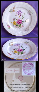 ANTIQUE FRENCH STUDIO / VILLEROY BOCH PLATE