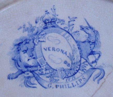 ENGLISH HISTORICAL PLATE PHILLIPS VERONA PR104