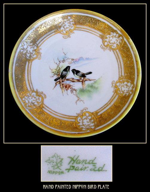 BEAUTIFUL H.P. NIPPON BIRDS PLATE PR106