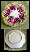 ANTIQUE HAND PAINTED PLATE PR108