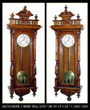 ANTIQUE WALL CLOCK GUSTAV BECKER c.1880