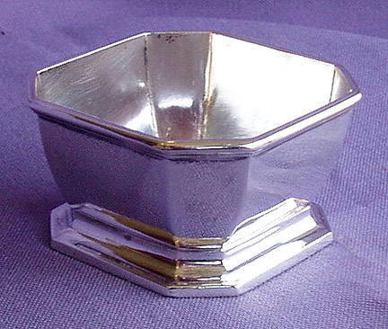 GORHAM STERLING SILVER OPEN SALT CELLAR 1927