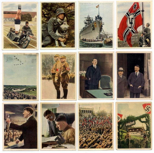 SET OF 12 GERMAN CIGARETTE CARDS c. 1930's P112