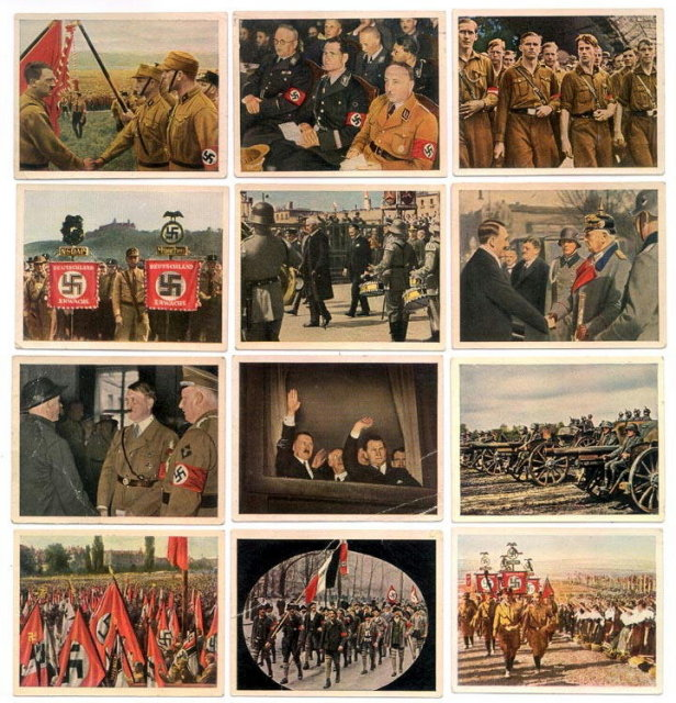 SET OF 12 GERMAN CIGARETTE CARDS c. 1930's P114