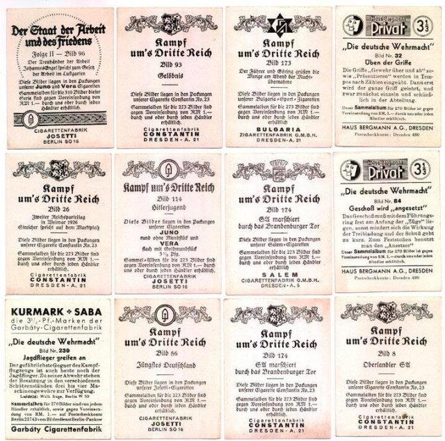 SET OF 12 GERMAN CIGARETTE CARDS c. 1930's P115