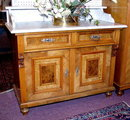 RENAISSANCE REVIVAL BURL WALNUT COMMODE