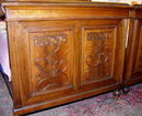 ART NOUVEAU CARVED WALNUT BEDS (PAIR) AUSTRIA c.1900