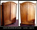 COUNTRY PINE ARMOIRE w DRAWER AUSTRIA c.1880