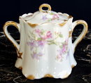 HAVILAND LIMOGES ANTIQUE SUGAR w LID SCHLEIGER #36