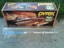 PYREX BAKE A ROUND BREAD LOAF BISCUIT BAKING TUBE KITCHEN UTENSIL ORIGINAL CORNING NEW YORK BOX