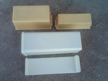 TUPPERWARE BUTTER CADDY BRICK CHEESE HOPPER DAIRY GOODS STORAGE CONTAINER REFRIGERATOR TUB