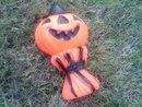 Halloween Pumpkin Jack O Lantern Porch Decoration Retro Ornament Empire Plastic 1969 Date Company Mark