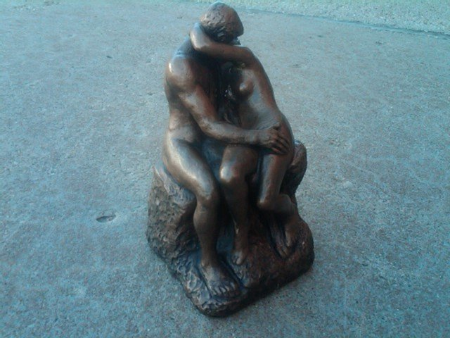 NUDE LOVER MAN WOMAN STATUE FIGURINE AUSTIN PRODUCTIONS RETRO DESK ORNAMENT 1971 DATE