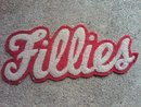 FILLIES FILLEY MASCOT HIGH SCHOOL COLLEGE LETTER JACKET PATCH RETRO COAT APPAREL ACCESSORY