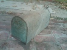 GALVINIZED STEEL MAILBOX FARM RANCH TOOL DULUTH ROOFING COMPANY MANUFACTURER MARK