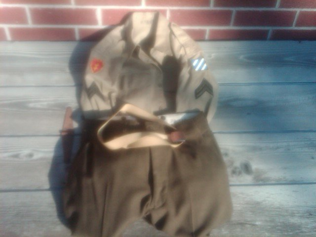 UNITED STATES ARMY MILITARY KOREAN WAR ISSUE UNIFORM SHIRT BELT PANTS VINTAGE SOLDIER APPAREL