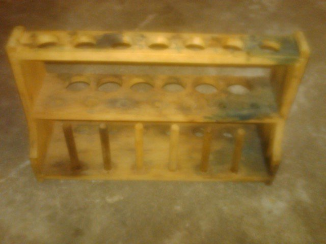 WOODEN TEST TUBE RACK SPICE HOLDER SCHOOL BIOLOGY PHYSICS LABORATORY UTENSIL SCIENCE TOOL