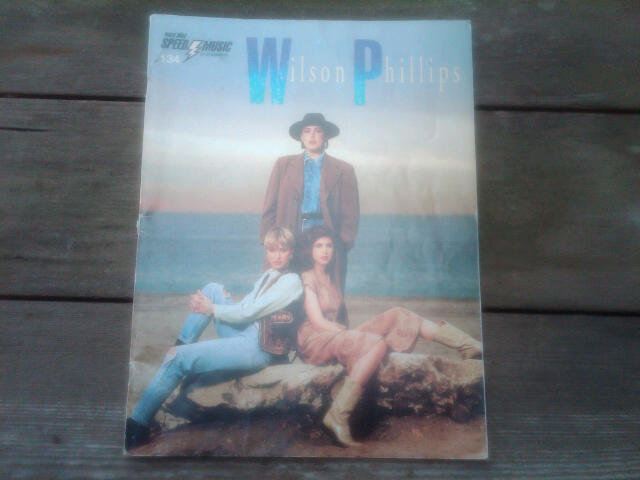 WILSON PHILLIPS HOLD ON SHEET MUSIC BOOKLET 1990 BALLAD BAND COLLECTIBLE