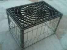 STEEL WIRE MILK BOTTLE CARRIER BASKET CRATE TOTE GILLETTE DAIRY FACTORY MARK