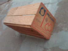 PEAR FRUIT PRODUCE CRATE WOODEN SHIPPING BOX FRUTANA SANTIAGO CHILE ADVERTISING