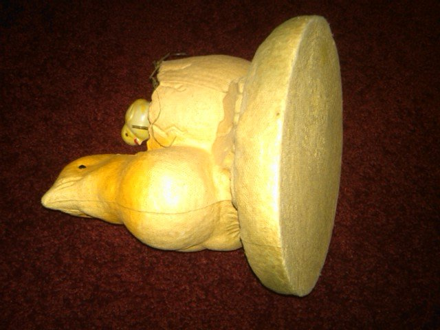 PAPER MACHE CHICKEN EASTER CHICK HOLIDAY DECORATION DEPRESSION ERA ORNAMENT