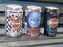 STURGIS RALLY SOUTH DAKOTA  HARLEY DAVIDSON FULL BEER CANS 1995 1996 1997