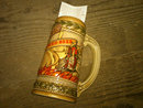 STROH BREWERY DETROIT MICHIGAN BEER STEIN DECORATED POTTERY MUG FIRE BREWED STROH'S ADVERTISING BAR UTENSIL