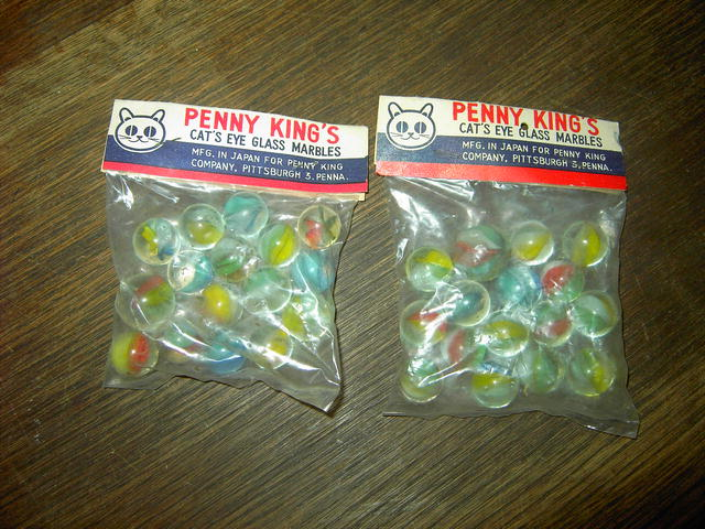 CAT EYE MARBLES PENNY KING ORIGINAL PACKAGE
