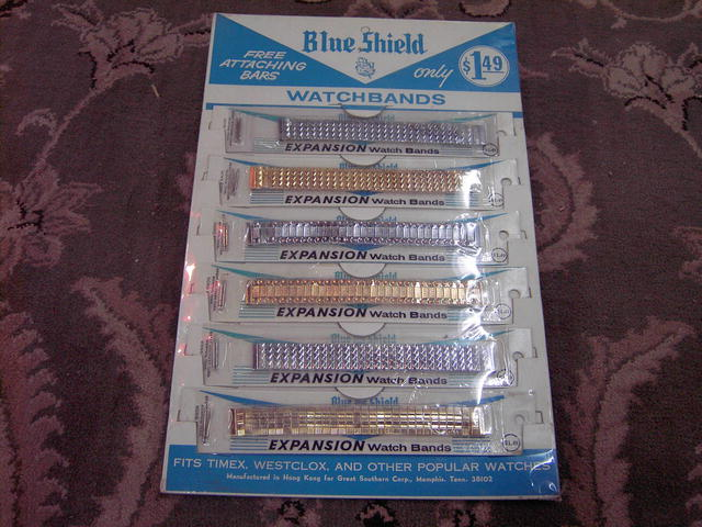 WATCHBAND STORE DISPLAY BLUE SHIELD WATCH ACCESSORY