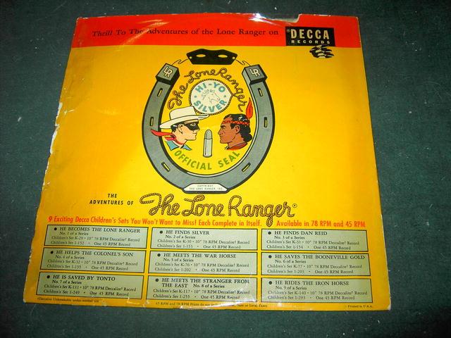 LONE RANGER COWBOY RECORD