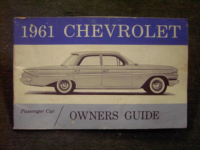 1961 CHEVROLET  CAR GUIDE MANUAL
