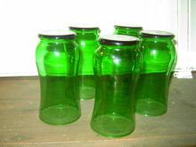 TUMBLER VASE FOREST GREEN GLASS