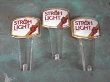 STROH BEER KEG HANDLE TAP ADVERTISING DETROIT MICHIGAN