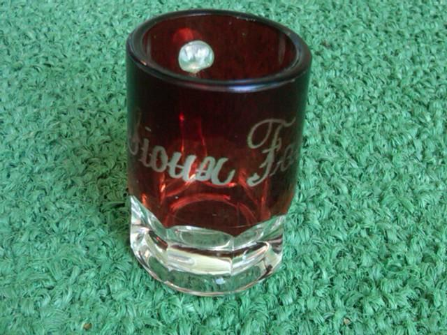 RUBY WASH PRESS GLASS MUG MINIATURE CUP SIOUX FALLS SOUTH DAKOTA ENGRAVING