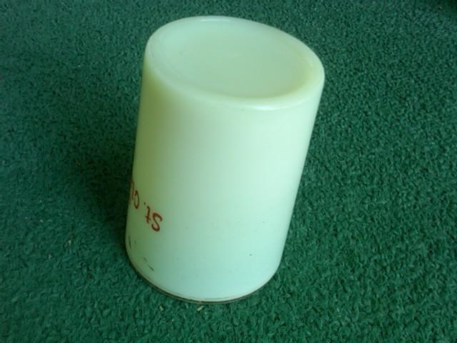 ST CLAIRSVILLE OHIO CUSTARD GLASS CUP SOUVENIR TUMBLER