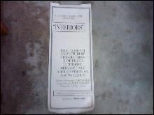 INTERIORS WOODY ALLEN MOVIE POSTER RETRO 1978 WALL DECORATION
