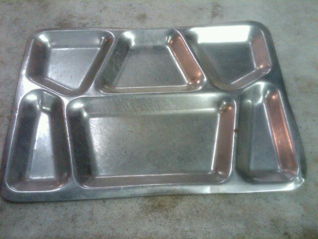 LUNCHROOM TRAY STAINLESS STEEL FOOD PLATTER DIVIDED STYLE SERVING DISH