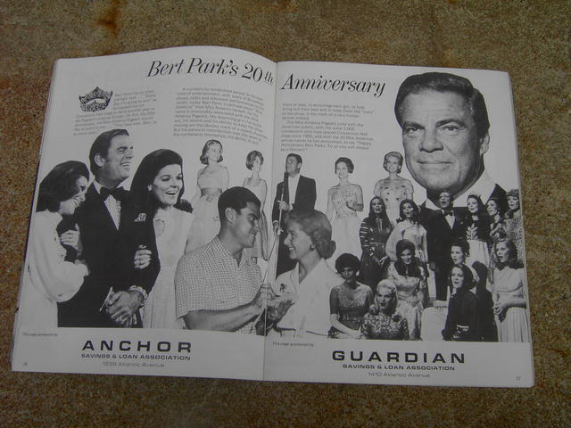 MISS AMERICA PAGEANT PROGRAM 1974 BERT PARKS 20TH ANNIVERSARY