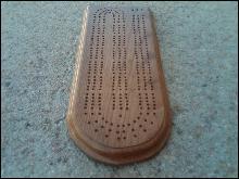 OAK WOOD CRIBBAGE BOARD GAME PIECE GAMING TOOL