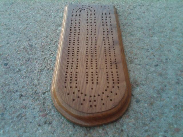OAK WOOD CRIBBAGE BOARD GAME PIECE GAMING TOOL