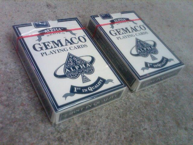 GEMACO ALPHA SERIES PLAYING CARDS ORIGINAL CELOPHANE WRAP BLUE SPRINGS MISSOURI GAMING ACCESSORY