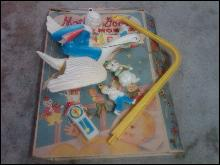 MOTHER GOOSE MOBILE BABY CRIB BEDROOM MOTION TOY ORIGINAL SANITOY USA MADE CARDBOARD BOX