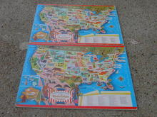 UNITED STATES CHILDRENS PUZZLE USA AMERICA  STATE CAPITAL WHITMAN PUBLISHING EDUCATIONAL LEARNING GAME TOY