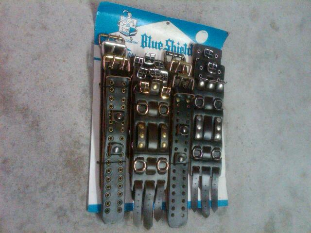 RETRO LEATHER WATCH BAND WRIST APPAREL BLUE SHIELD GREAT SOUTHERN MEMPHIS TENNESSEE ORIGINAL STORE DISPLAY CARD